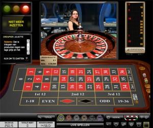 Live casino Roulette spelen